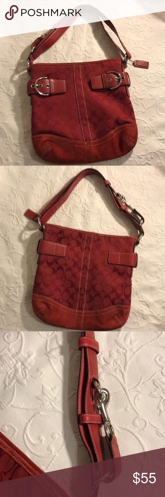 7a6deaf19a8 COACH Signature Hobo Convertible Bucket Bag COACH Signature Hobo  Convertible Bucket Bag Coach Bags Shoulder Bags