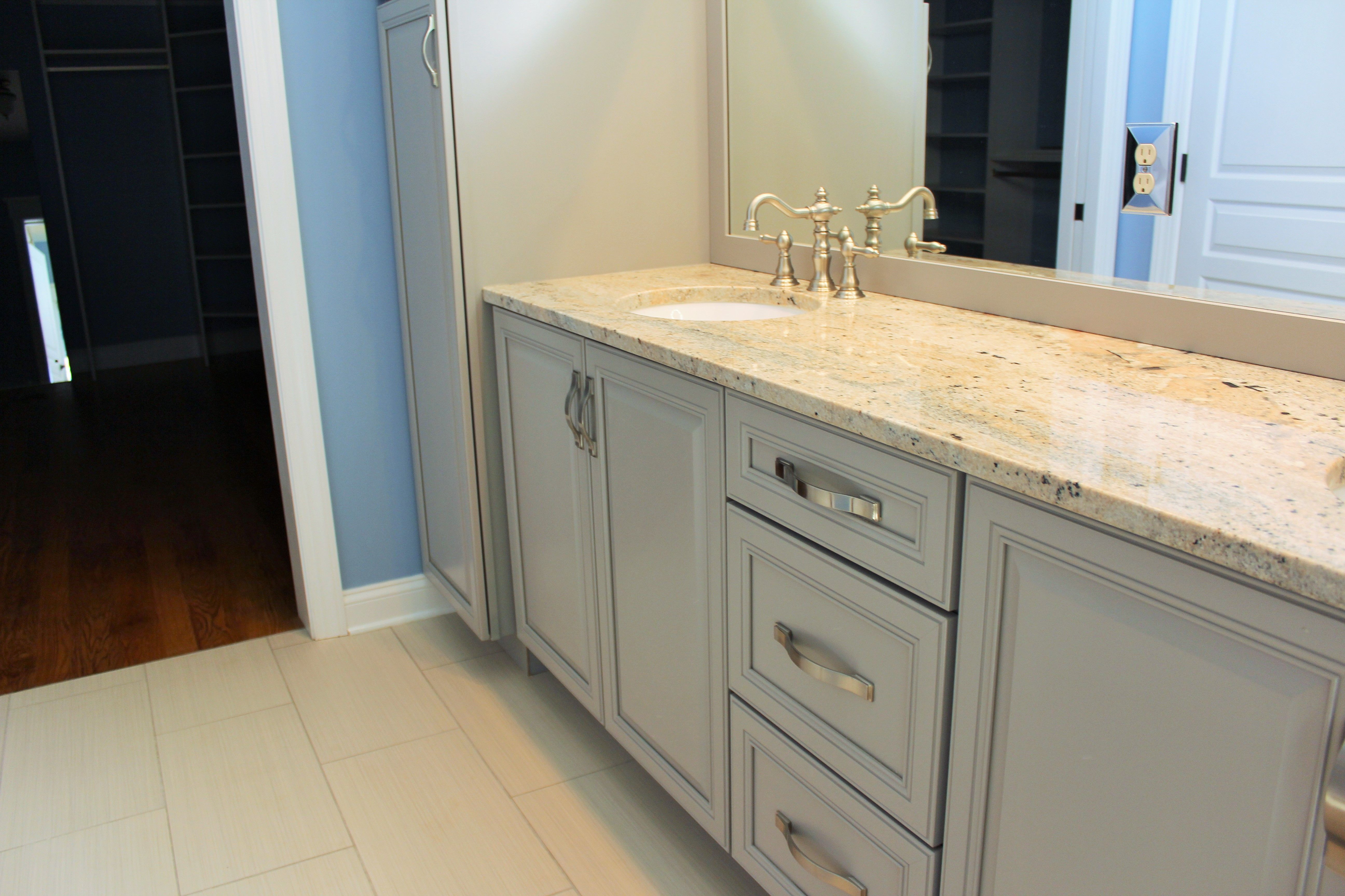 Master Bathroom Cabinets: Wellborn Cabinet, Inc.   Select Series    Doorstyle: Concord