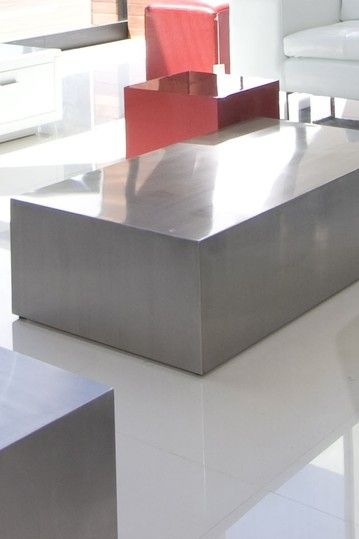 Spencer Coffee Table   Brushed Metal By Dulce Modern Mid Century Furniture  On @HauteLook