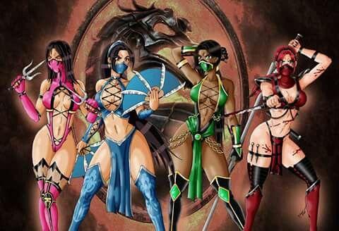 Mortal Kombat female ninjas | Blazed | Mortal kombat art