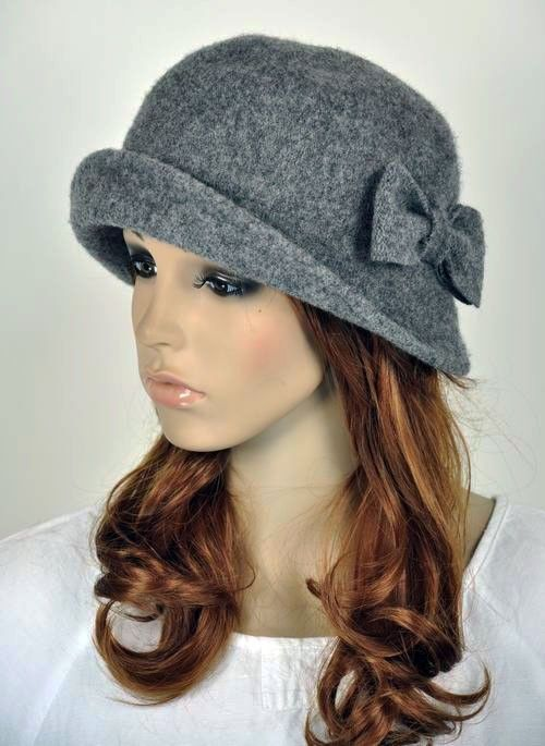 6a4cc4a46ac  15.99 AUD - Cute Bow 2-Way-Use Winter Wool Fashion Lady Women s Hat Beanie  Cap Grey  ebay  Fashion