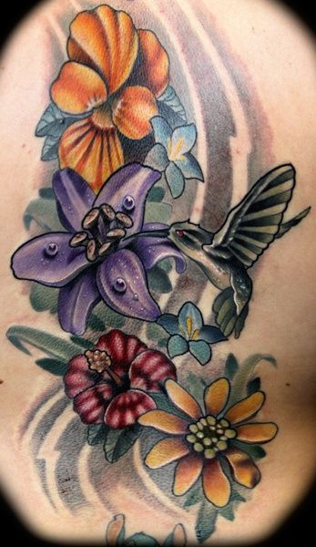 Hummingbird and flowers tattoo google search cool stuff hummingbird and flowers tattoo google search mightylinksfo