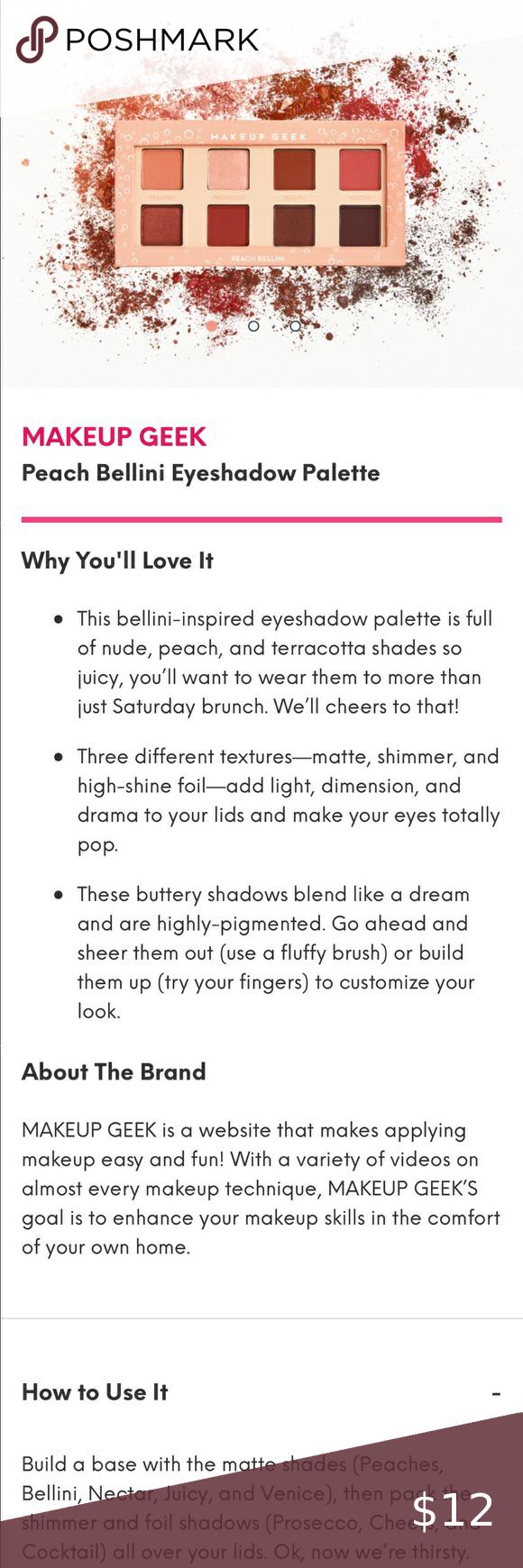 Makeup Geek Peach Bellini Eyeshadow Palette New From Ipsy