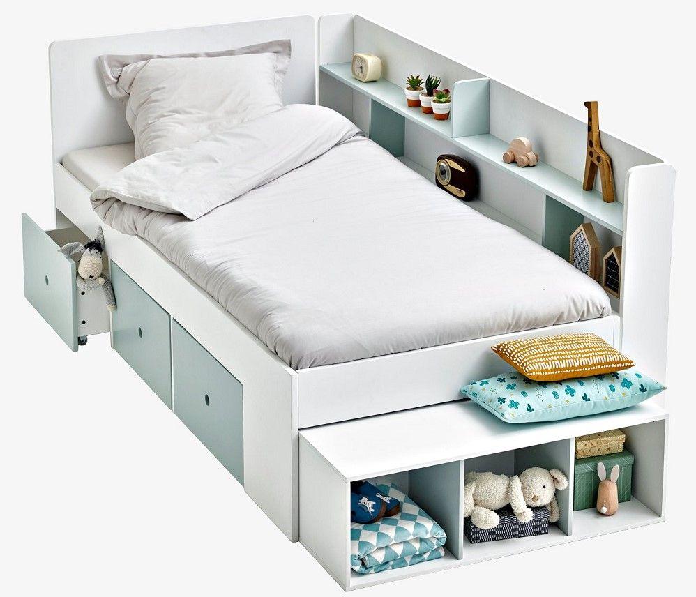 lit plateforme avec rangements baseo