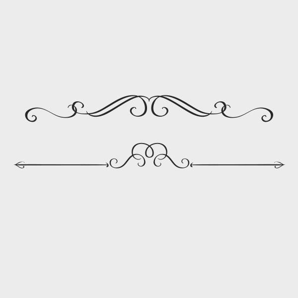 Free Vector Swirly Text Dividers Text Dividers Decorative Lines Clip Art Borders