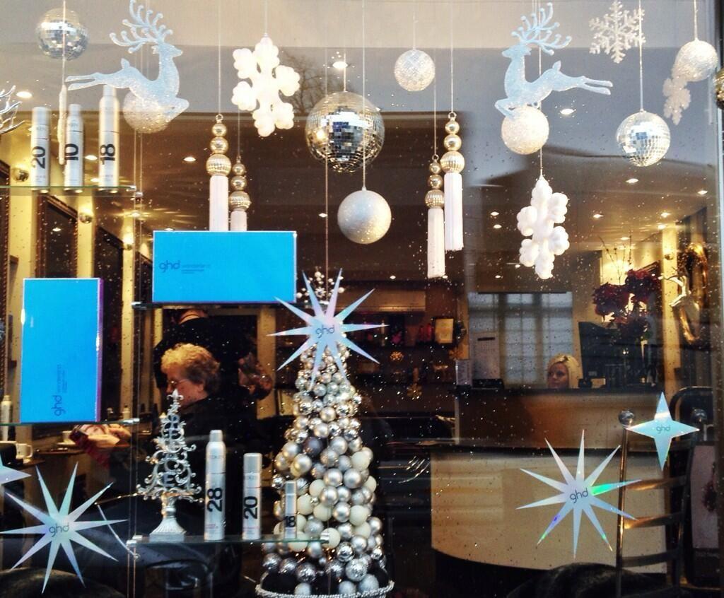 MandM HAIR on | Salon | Christmas, Salon window display, Christmas ...