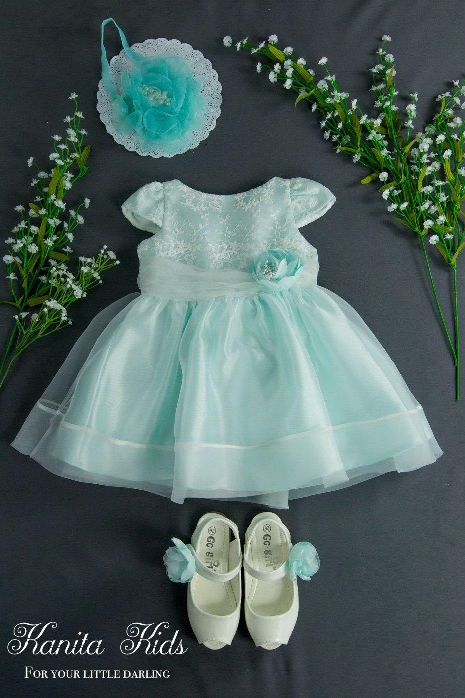 Pretty Mint Toddler Dress, Toddlers Easter Dress, Infant Flower ...