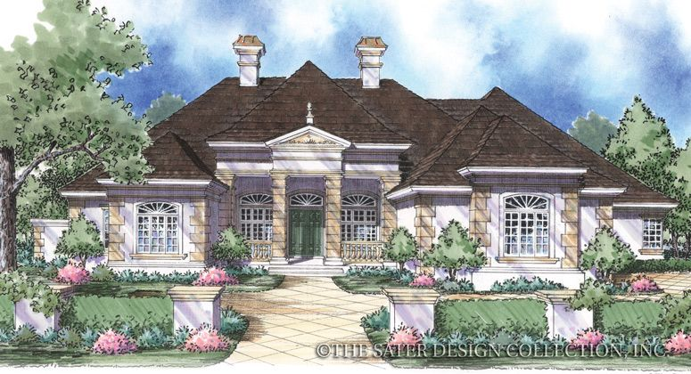 Brittany-Front Elevation Rendering-Plan#8040