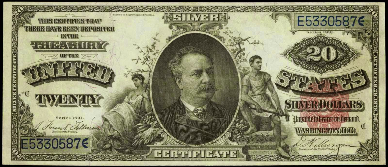 Paper Money Of The United States 1891 Twenty Dollar Silver