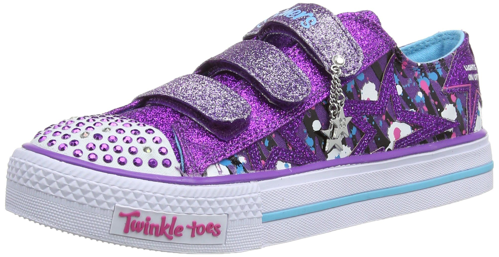 Skechers Shuffles  Glitter N Glitz Girls LowTop Trainers Purple
