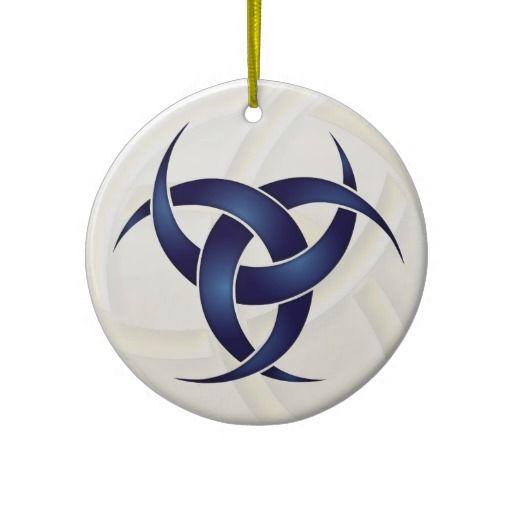 Triple Crescent Moon Blue 1 Ceramic Ornament Pinterest
