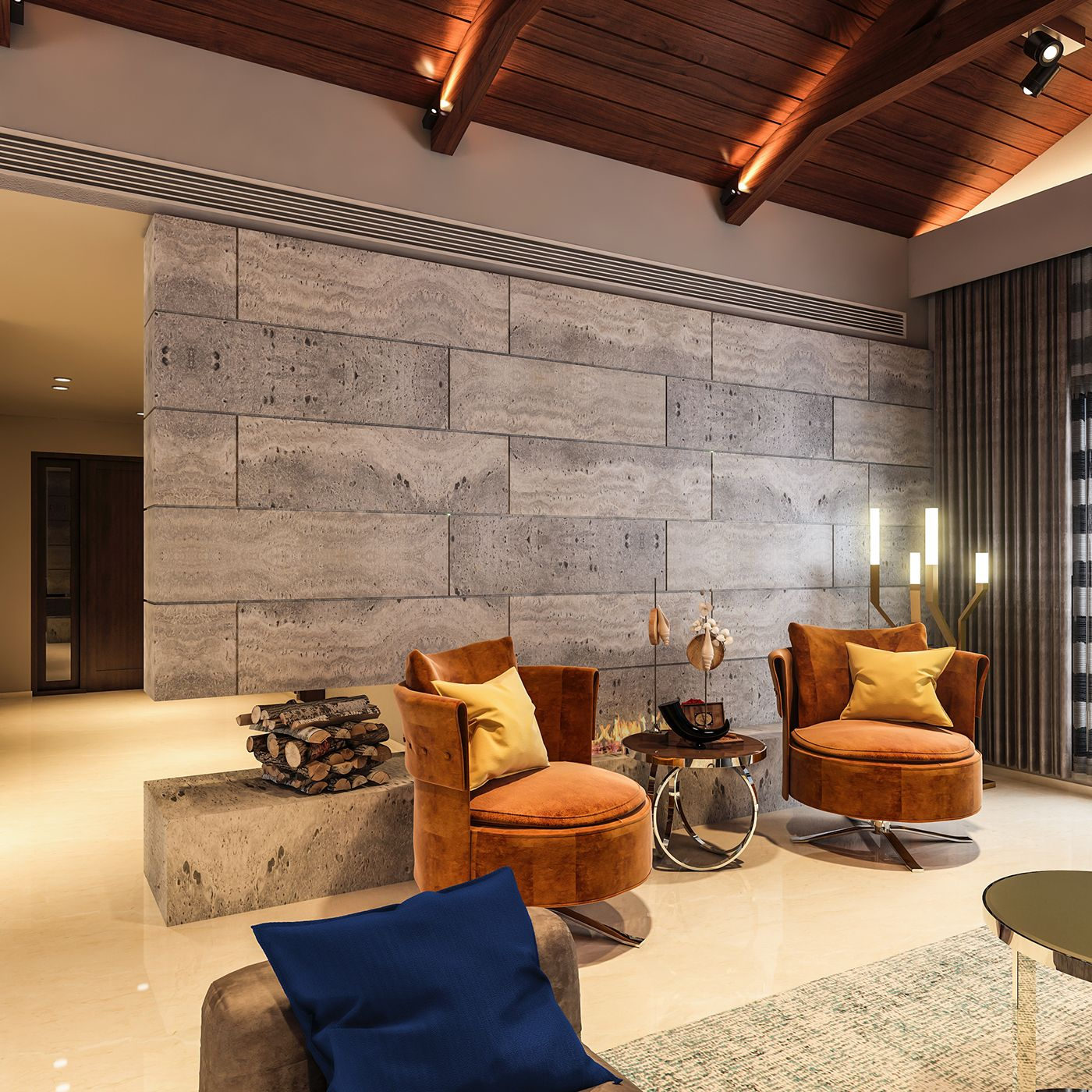 Living Area Renders For Living Space Architects Ludhiana