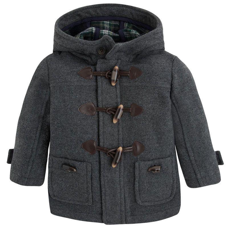 Mayoral Boys Wool Duffle Coat | Coats, Warm and Wool