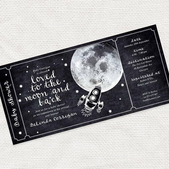 The Moon and Stars Ticket has a charming design of the star filled - prom tickets design