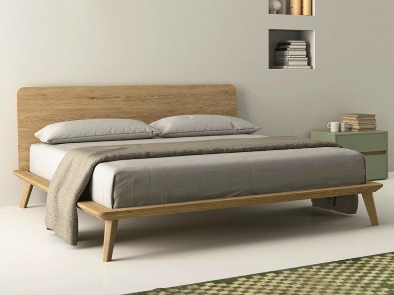 Letto matrimoniale in rovere EASY - Dall\'Agnese | Bedroom ...