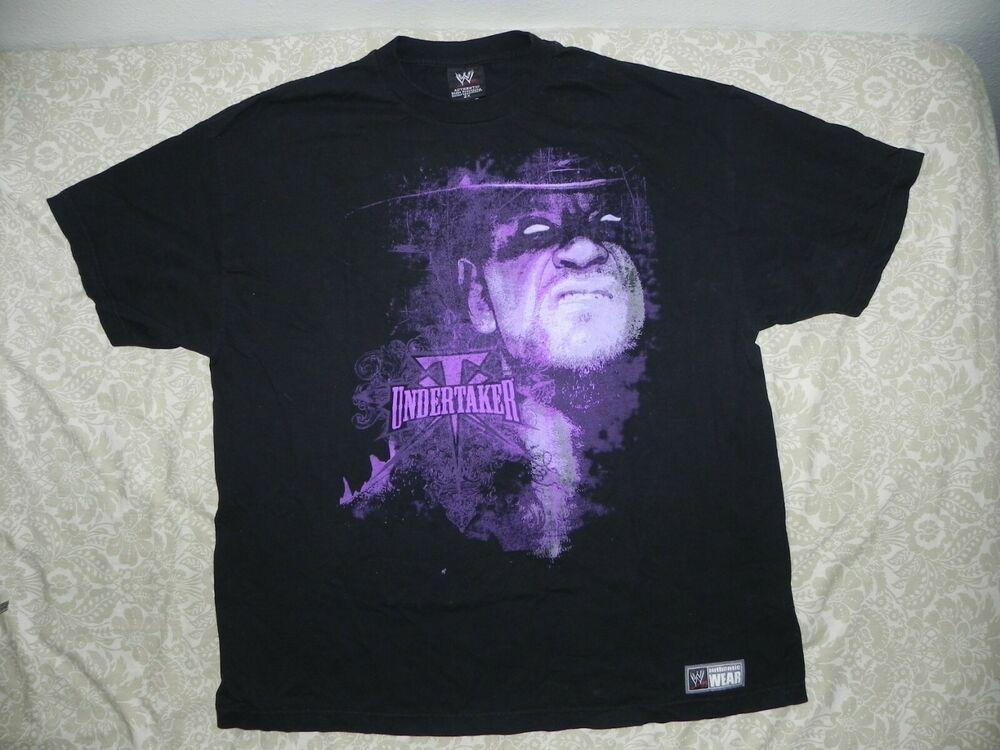 Fan Apparel & Souvenirs Sports Mem, Cards & Fan Shop Undertaker Classic TX Logo Mens WWE T-shirt
