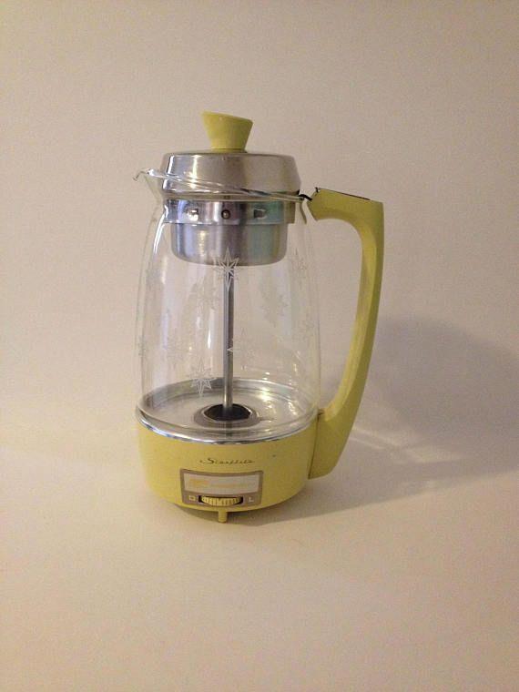 Vintage Retro 1970s Proctor Silex Glass Electric Automatic Coffee Maker Percolator Electricity