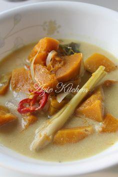 Azie Kitchen Masak Lemak Labu Kuning Vegetable Recipes Asian Recipes Cooking
