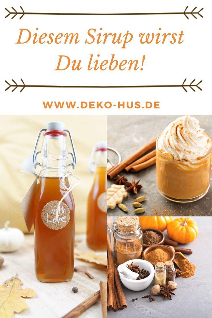 Pumpkin Spice Latte Sirup selber machen | Food | Gesunde ...