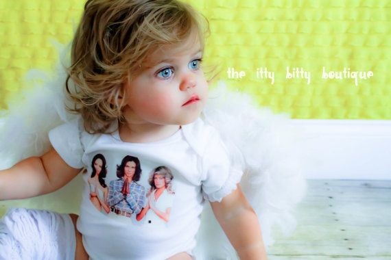 Charlie's Angels  Baby Onesie or Toddler Tee by ShopTheIttyBitty, $16.00 (and yes, that is my baby girl heehee!!)