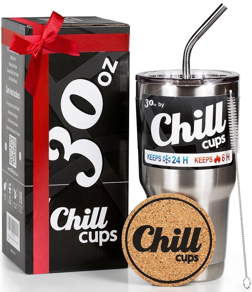 Insulated travel coffee thermal cup 30 oz double wall