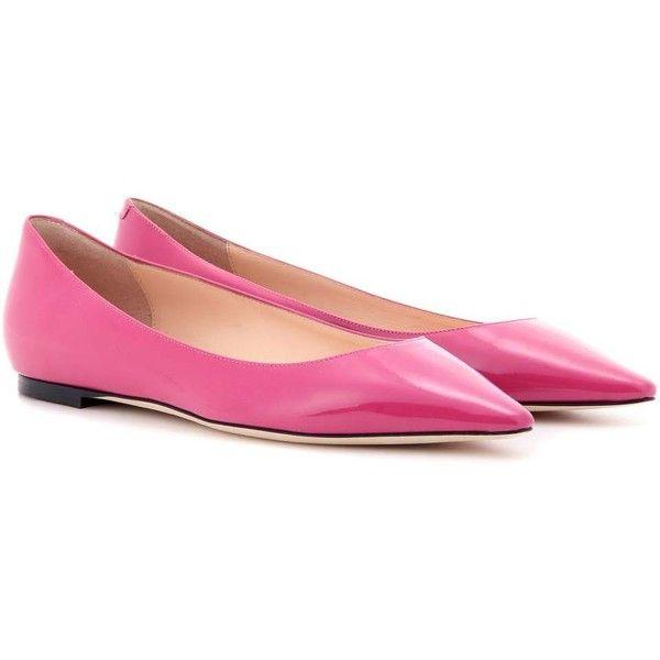 Jimmy Choo Pink Patent Romy Ballerina Flats ykidIw