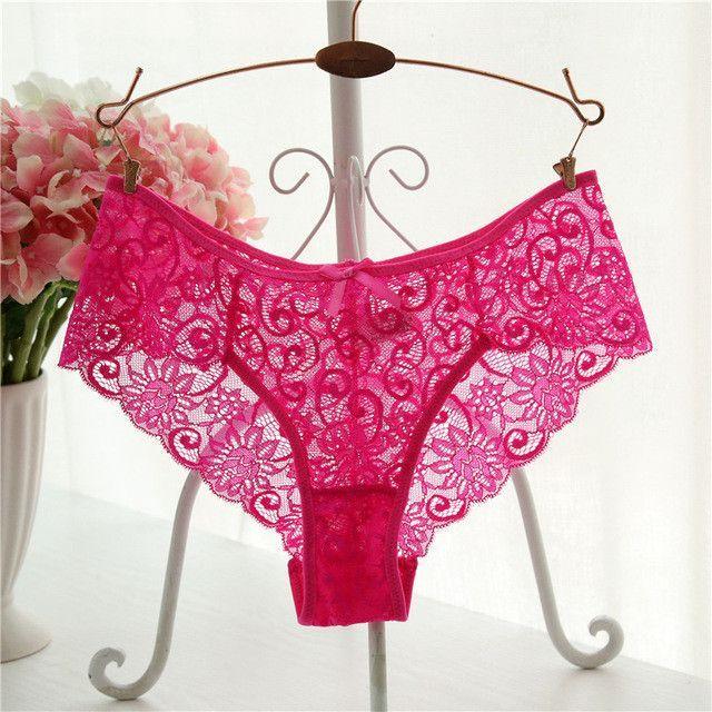 4821a30558c Plus Size S/XL Fashion High Quality Women's Panties Transparent Underwear  Women Lace Soft Briefs Sexy Lingerie