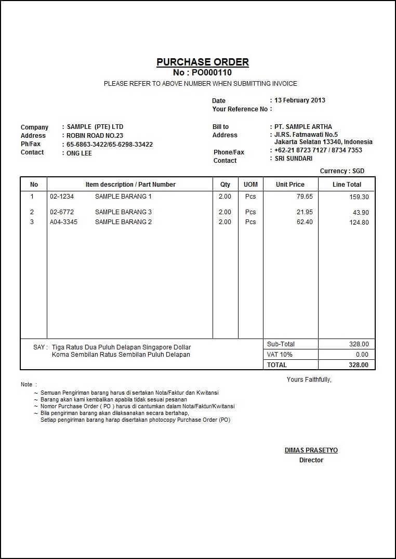 Contoh Surat Order Barang Bahasa Inggris Download Kumpulan Gambar