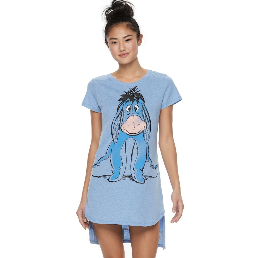 Girls Pyjamas Nightie Disney Eeyore Blue