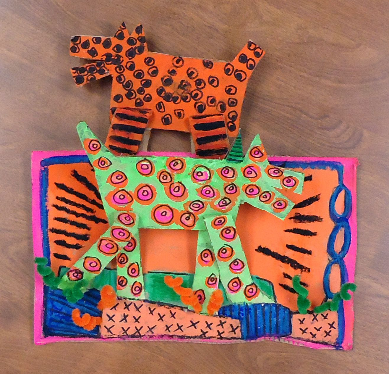 Keith Haring Cardboard Relief