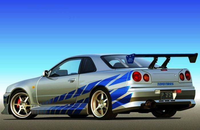 Fast And Furious Cars 1999 Nissan Skyline Gt R R34 Movie Cars And