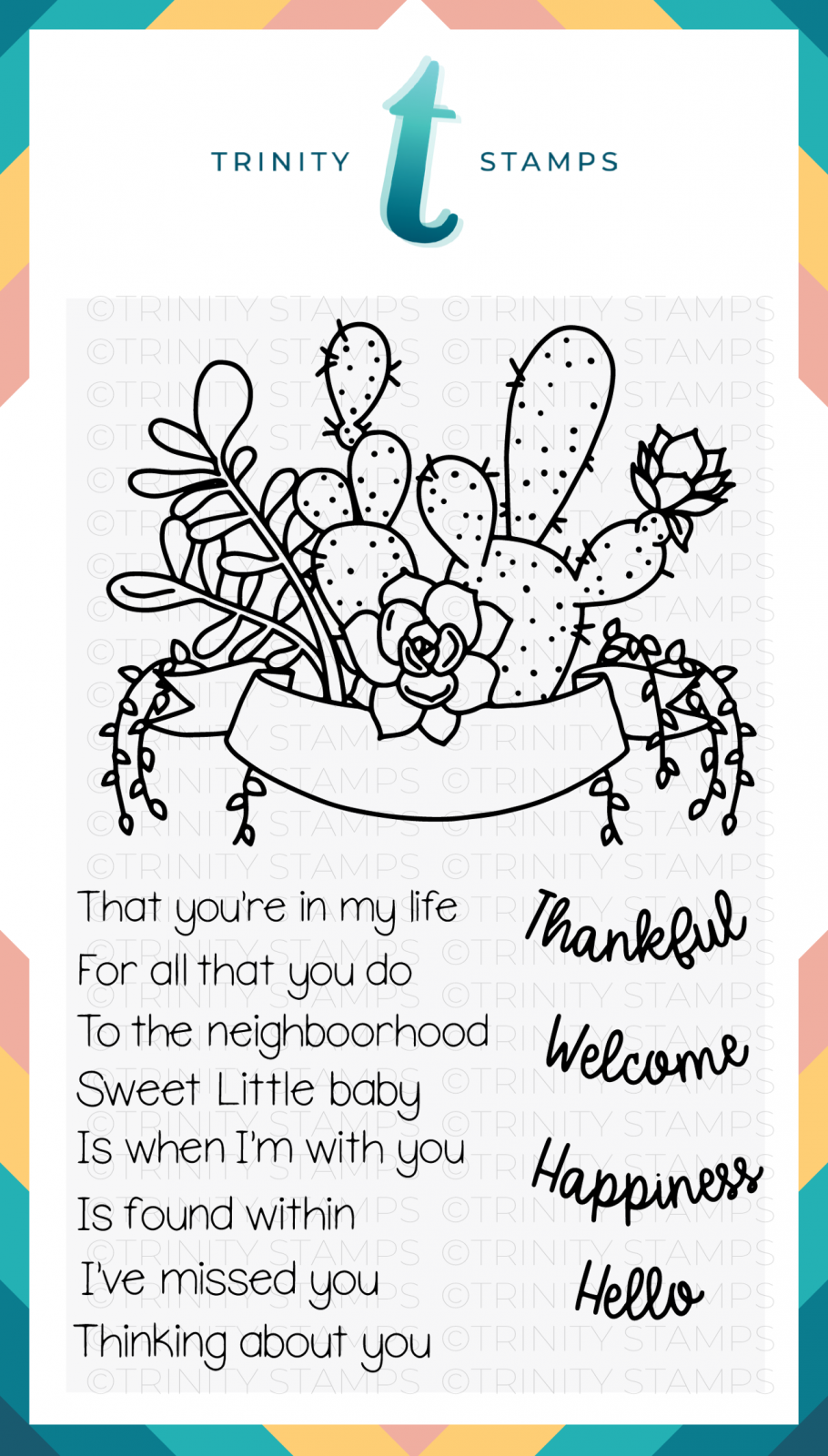 Succulent Banner 4x6 Stamp Set Trinity Stamps Products Pinterest