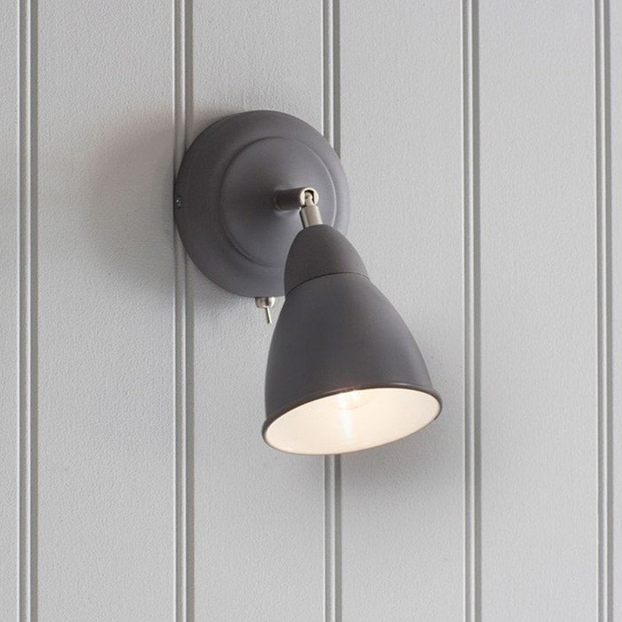 Chic Beaminster Wall Light in Charcoal | Charcoal, Ware F.C. and Walls
