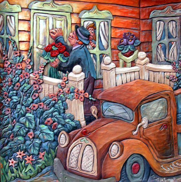 medium Bois Peinture Jacques Lisée Painter, Painting