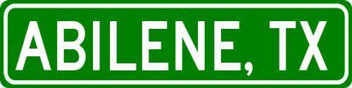 ABILENE TEXAS  City Limit Sign Aluminum