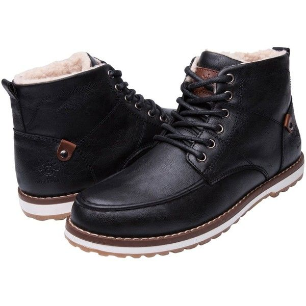 GLOBALWIN Mens Classic Winter Water Resistnat Chukka Boot ($32) ❤ liked on  Polyvore featuring