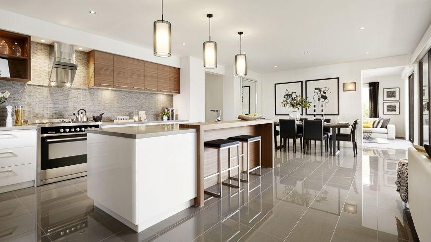 Casa de un piso moderna, dos fachadas y diseño interior | Sueños ...