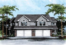 Traditional Multi-Family Plan 68101 Elevation