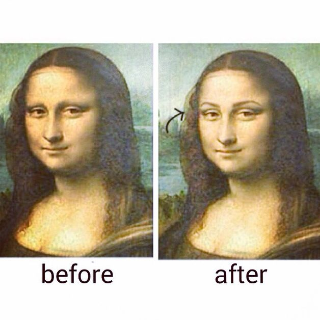 Mona Lisa Could Have Needed Some Of My Browpowder Back Then Lol