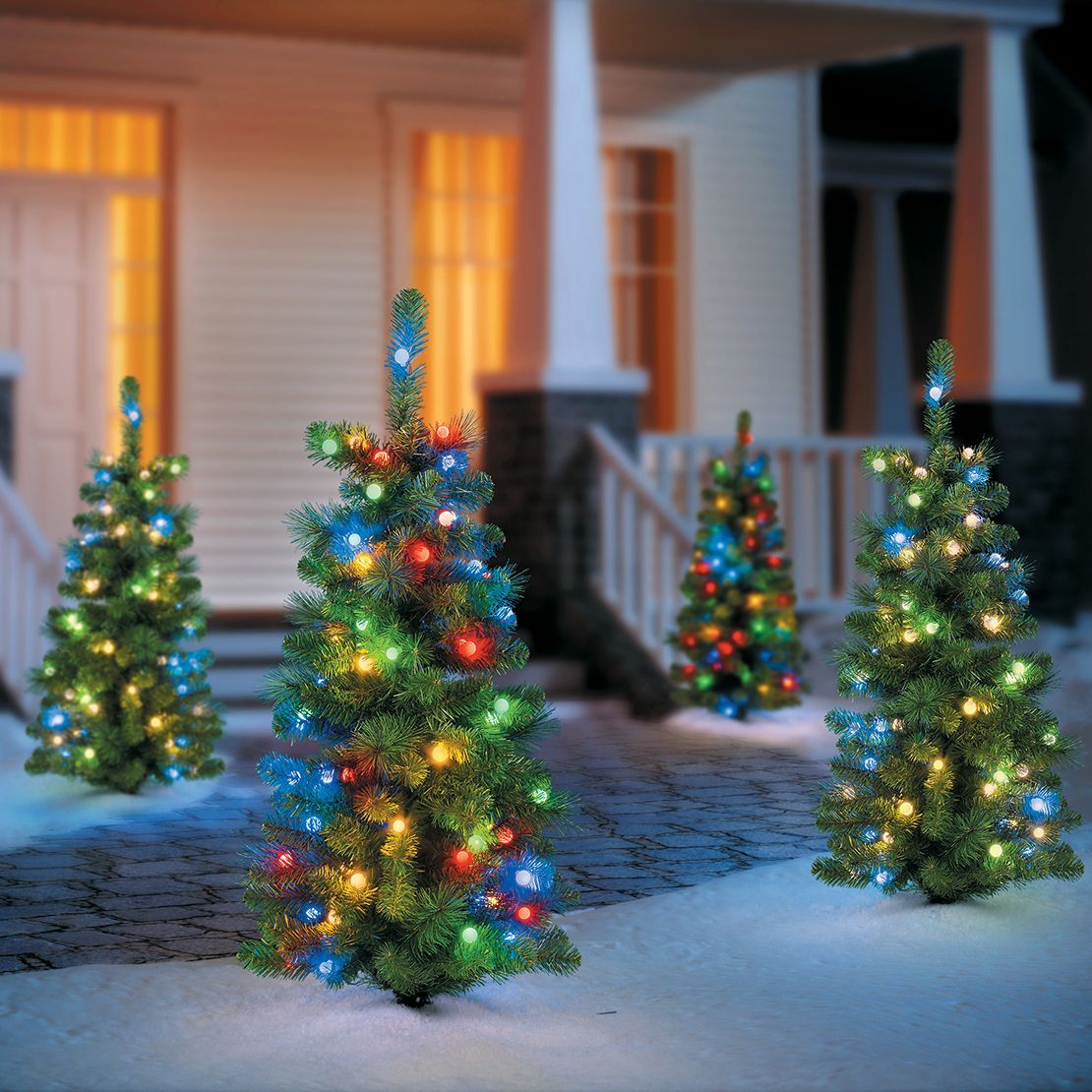 Light The Path To Your House And Get Guests In The Holiday Spirit Holiday Decorations Christmas Outdoor Outdoor Christmas Tree Decorating With Christmas Lights