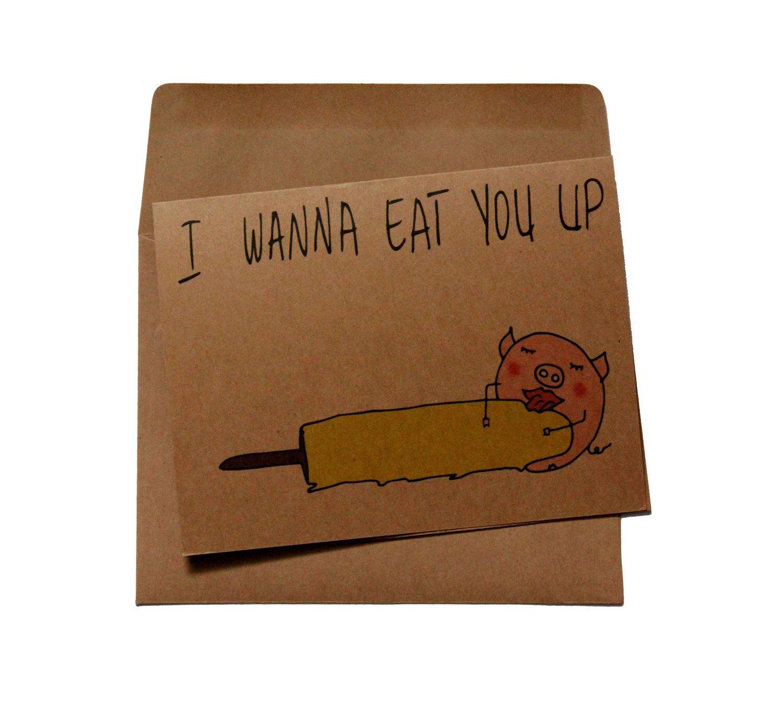 Valentine card him boyfriend naughty valentines card for him dirty