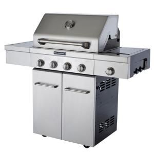 Kitchenaid 4 Burner Propane Gas Grill With Side Burner And