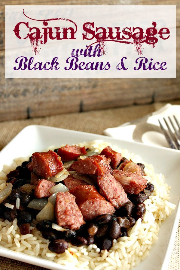 This cajun sausage with Black Beans & Rice Recipe is great for on the go! Balanced meal, portion sizes and a variety of flavors make this a winning dinner idea- and it's easy to prep! ad CreateWithMinute @minutericeUS