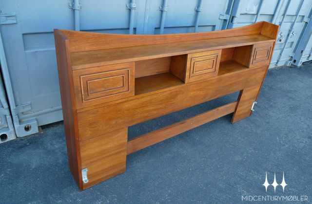 Best Rare Mid Century Modern King Sized Bookcase Headboard From 400 x 300