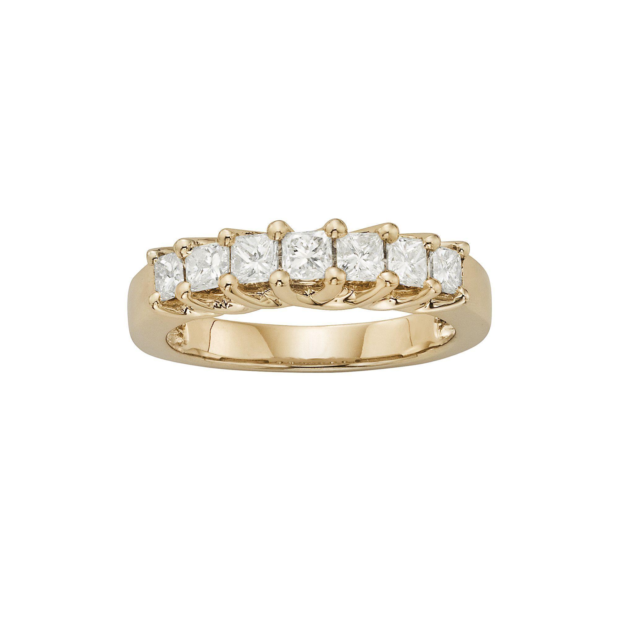 K gold ct tw igl certified princesscut diamond wedding ring