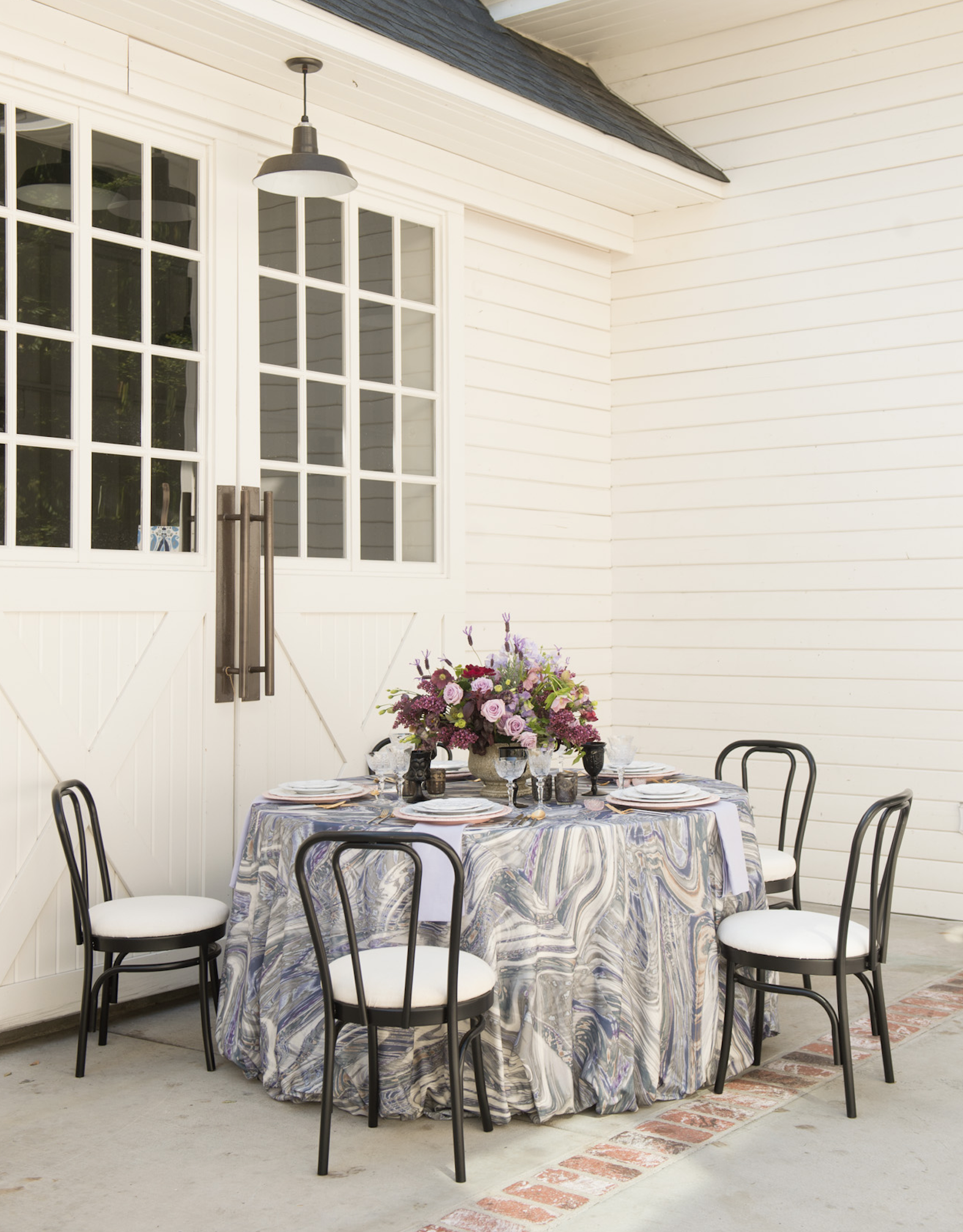 La Tavola Fine Linen Rental New Age Granite With Tuscany Lilac