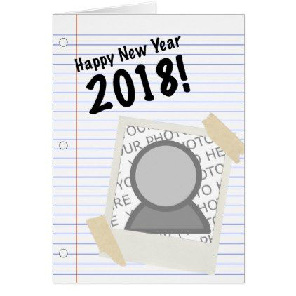 Happy new year 2018 notebook picture card graduation party happy new year 2018 notebook picture card graduation party invitations card cards cyo grad celebration stopboris Choice Image
