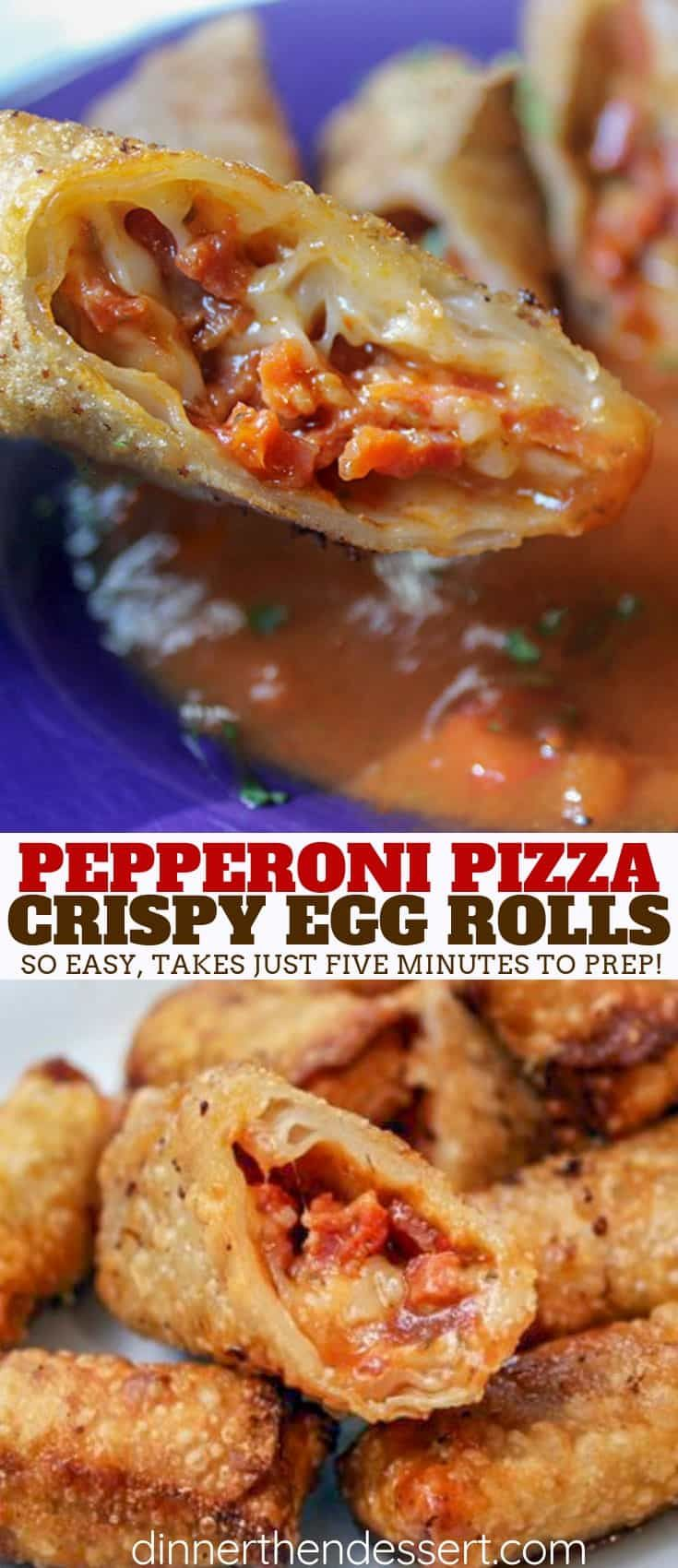 Pepperoni Pizza Egg Rolls are the perfect party appetizer or after school treat your family and friends will love and they take just a few minutes to prepare