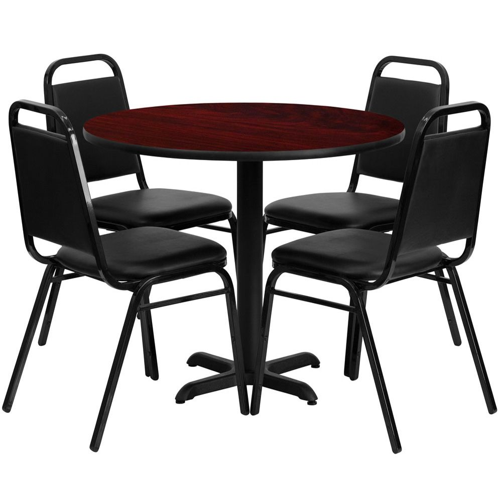 Forli 36 Inch Round 4 Seater Dining Set