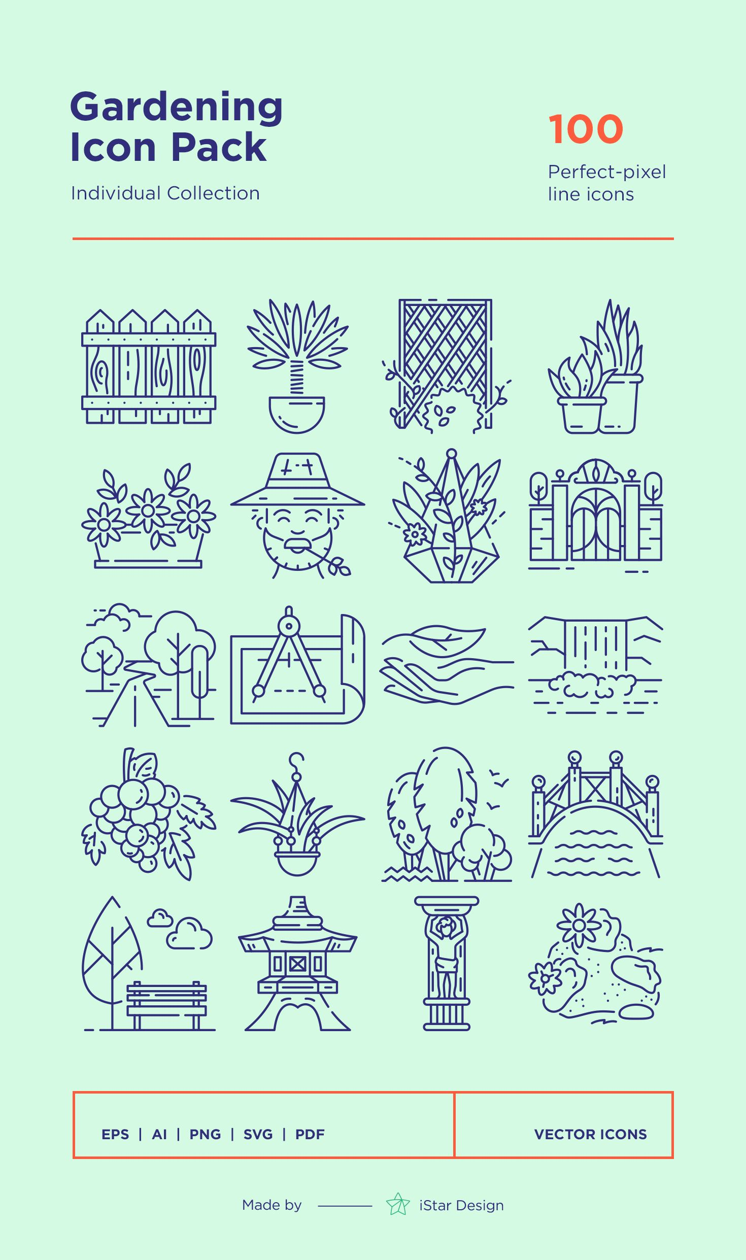 Download Gardening Icons Set made by iStar Design. Series ...